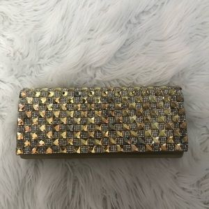 Handbags - Gorgeous gold and silver evening clutch